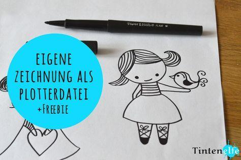 Plotterliebe am Freitag - Eigene Zeichnung in Plotterdatei umwandeln plus Freebie - Tintenelfe Blog