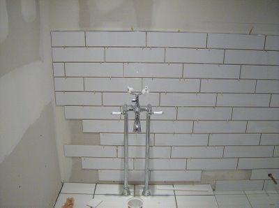 We Are Doing The Walls Just Like This 4x16 White Subway
