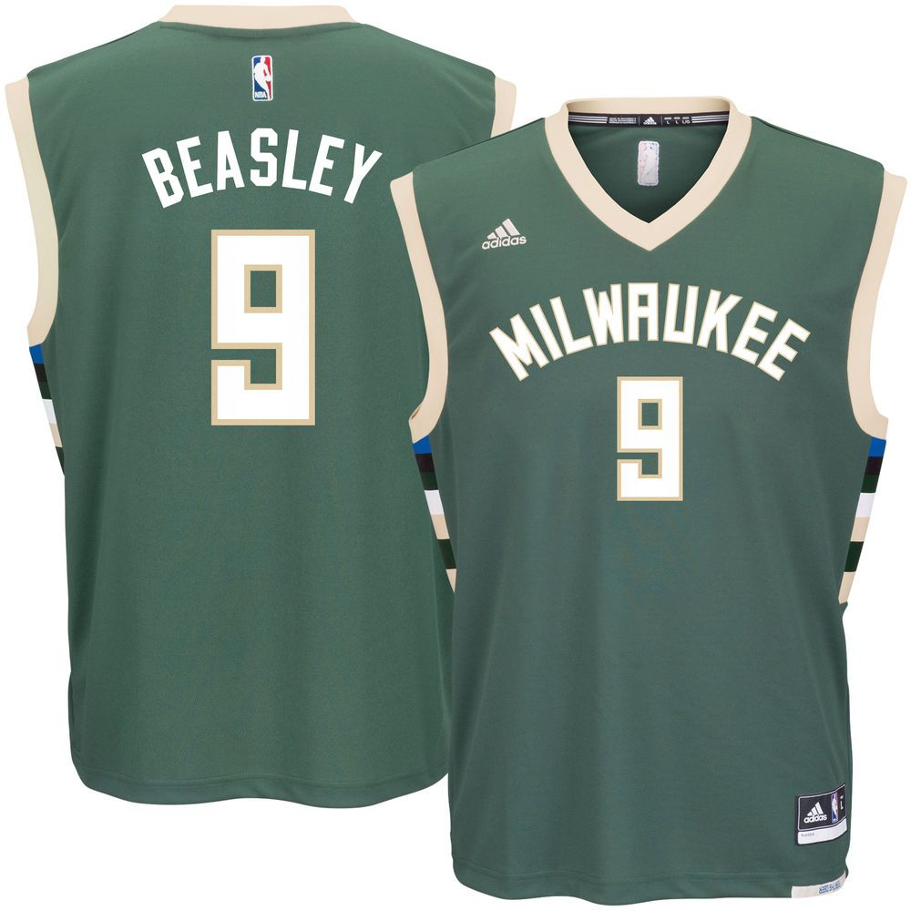 Men s Milwaukee Bucks Michael Beasley adidas Green Road Replica Jersey 048f3695e