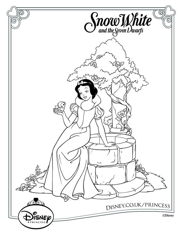 Snow White Colouring for Kids