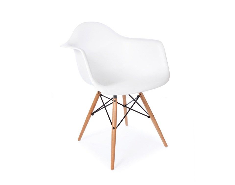 Sweet silla c/brazos blanca/natural | Dream Home | Pinterest | Eames ...