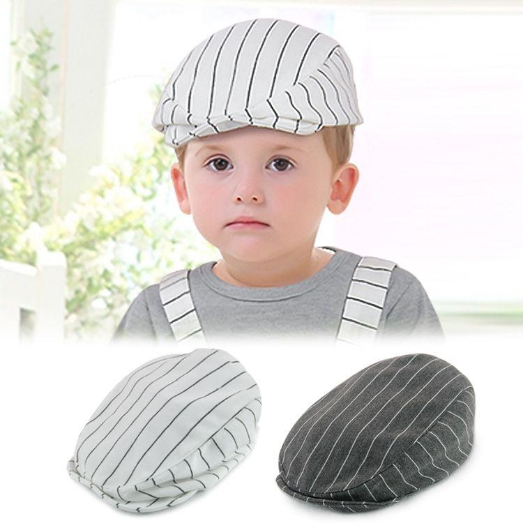 Summer Baby Kids Girl Hats Children Baseball Peaked Beret Hat Stripe Cap Hot