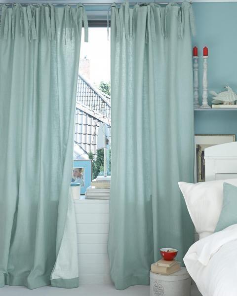 vorhang doubleface türkis-weiß   design konzept türkisblau   pinterest, Wohnzimmer dekoo