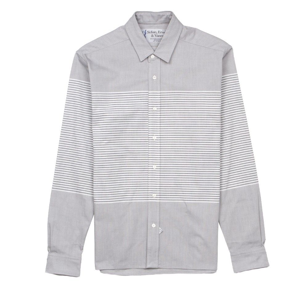 sidian, ersatz & vanes stripes & color blocked halcyon shirt