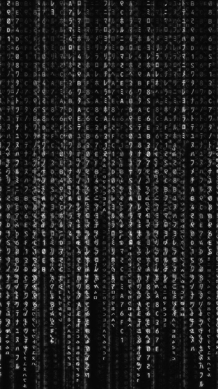 Vv60 Matrix Texture Film Pattern Background Bw Dark Background Patterns Iphone 6 Plus Wallpaper Technology Wallpaper