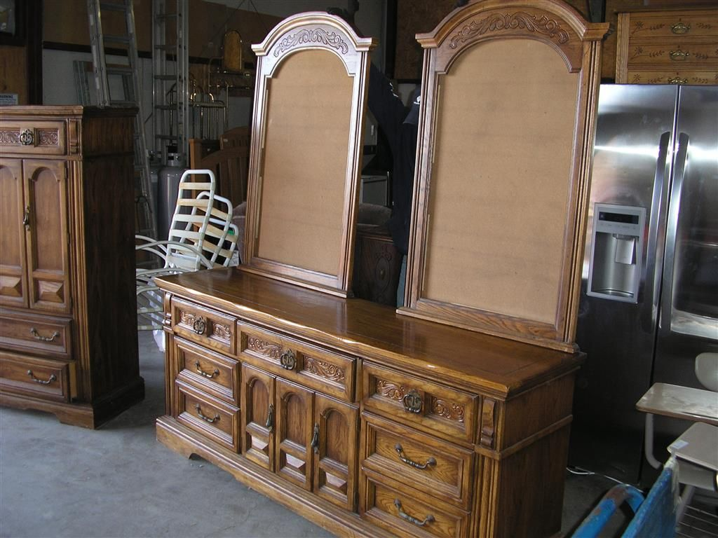 Genial 5 Piece Solid Oak Finish Bedroom Set By Burlington House Of Furniture