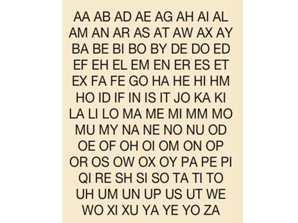 2Letter Scrabble Words in 2020 Scrabble words, 2 letter