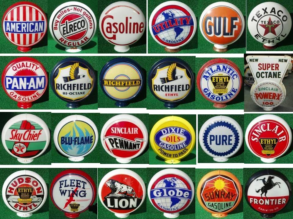 Vintage oil logos