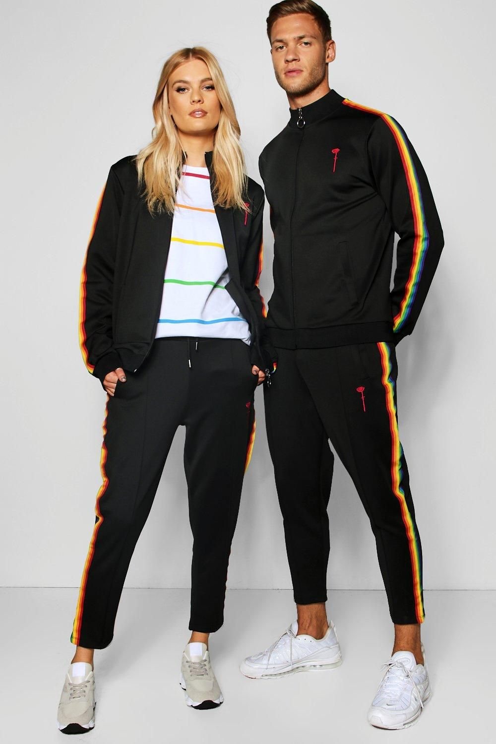 ee69674c Pride Taped Tracksuit with Cropped Joggers in 2019 | Highschool ...
