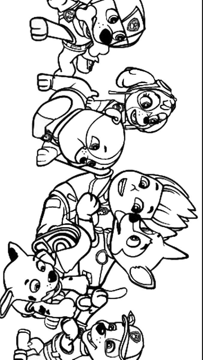 Coloring pages of chase from paw patrol - Paw Patrol Coloring Pages