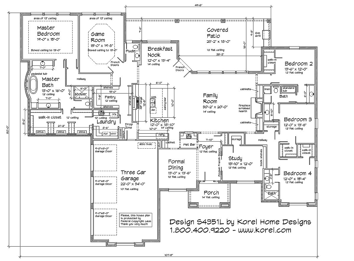 S4351l texas house plans over 700 proven home designs for Korel home designs online