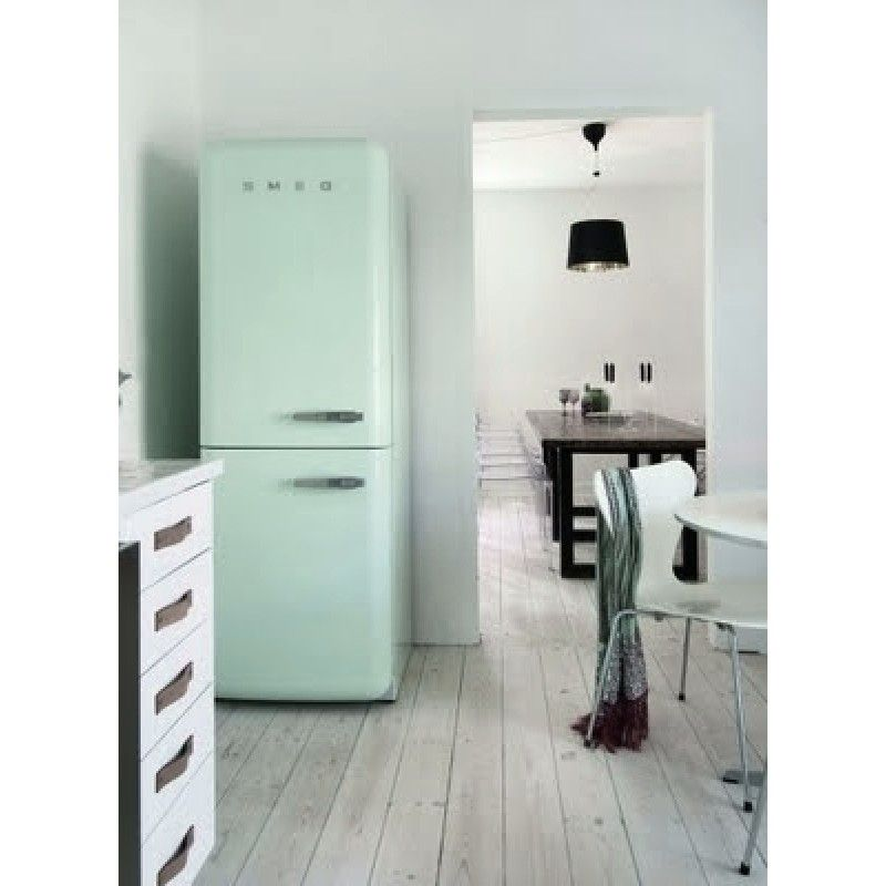 SMEG koelkast watergroen FAB32V7   FAB32VS7   Kitchen   Pinterest   Tiny houses, Kitchens and