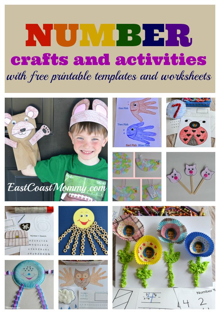 Number Crafts and Activities (1-10)... including free worksheets and ...