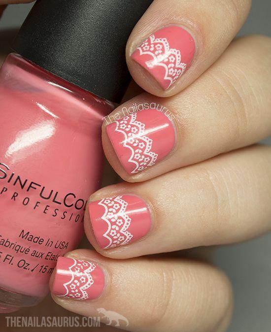 Uk Nail Art Blog Nail Art With Bite: Snippet: Lace Stamping