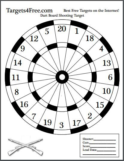 Dart Board Shooting Target Black And White Made From