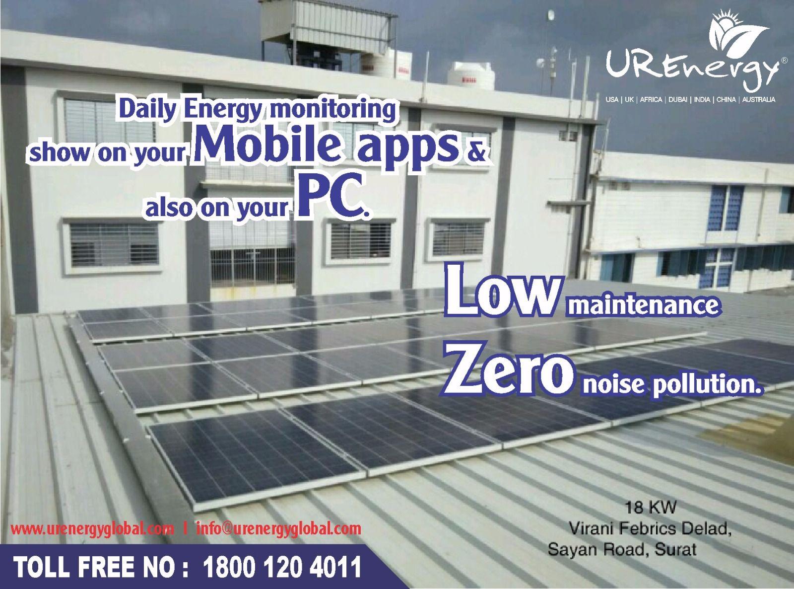 Virani Febrics Delad Sayan Road Surat 18kw Solar Projects Solar Noise Pollution