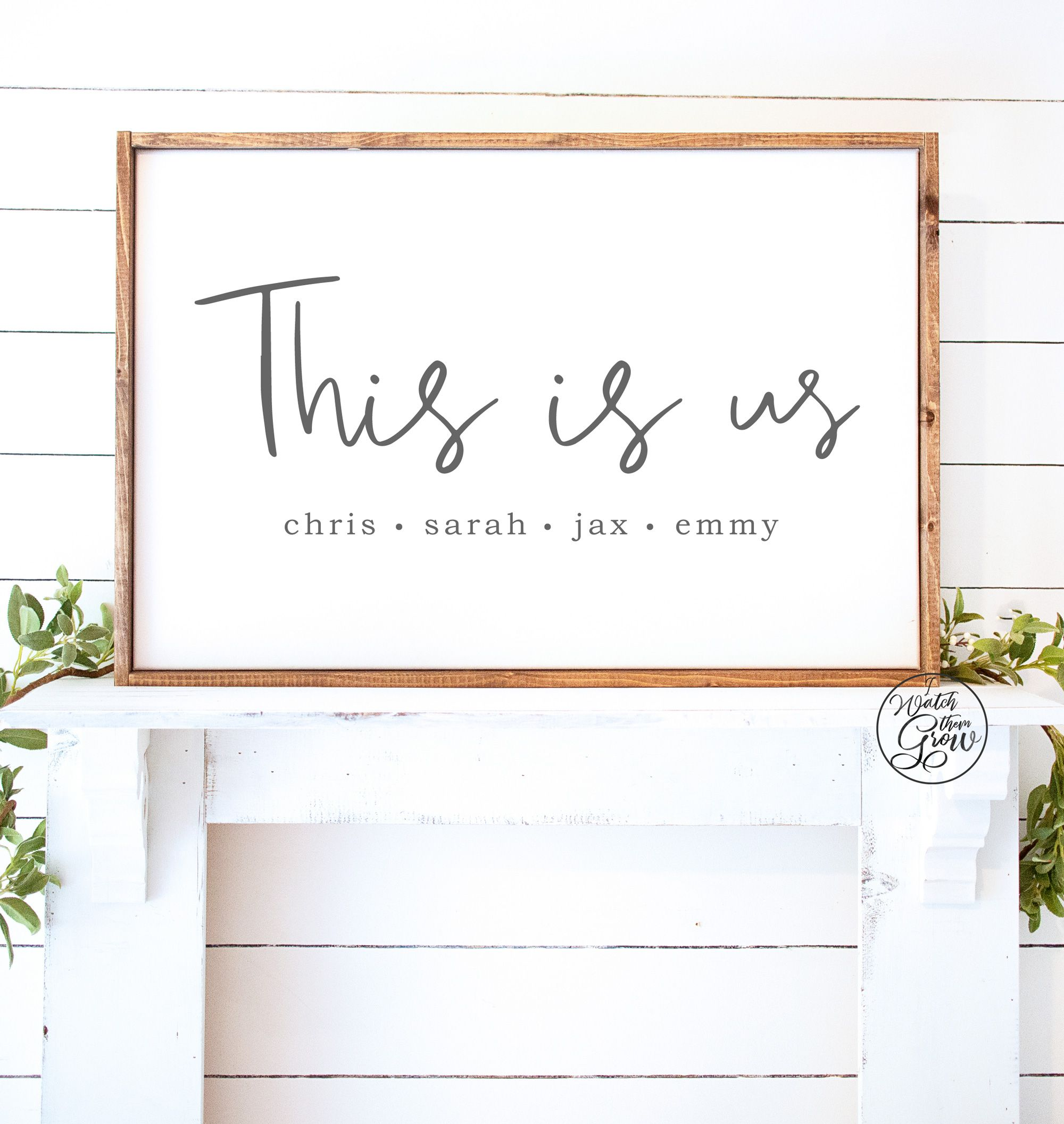 Printable Personalized This Is Us Sign Printable Etsy In 2020 Large Printable Etsy Wall Art Architectural Prints