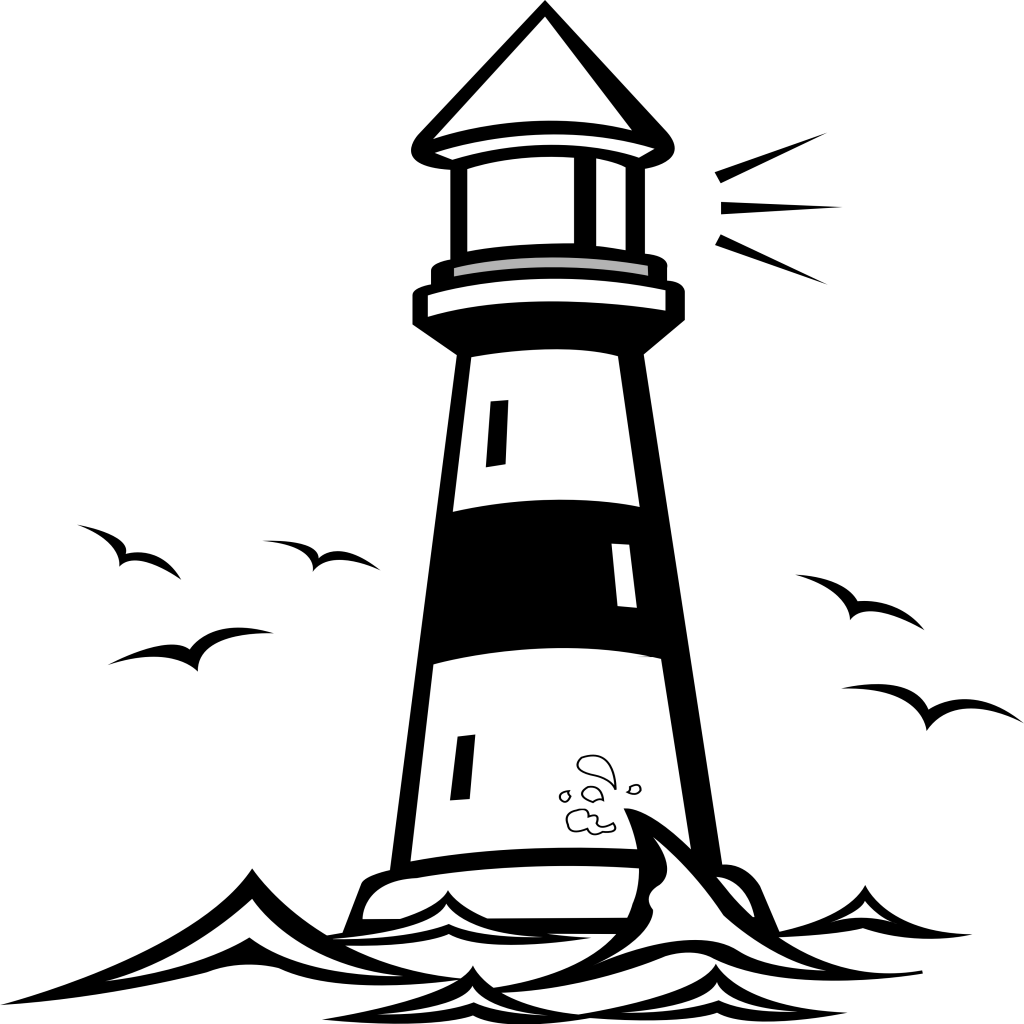 lighthouse-vector-clip-art-plottervorlagen-pinterest-of-malvorlagen ...
