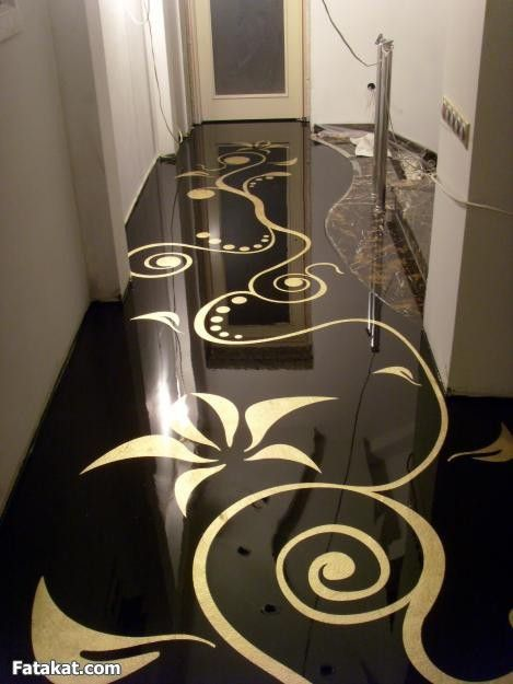 اللي تعرف حاجه عن ارضيات الايبوكسي Epoxy Floor 3d Marble Flooring Design Epoxy Floor