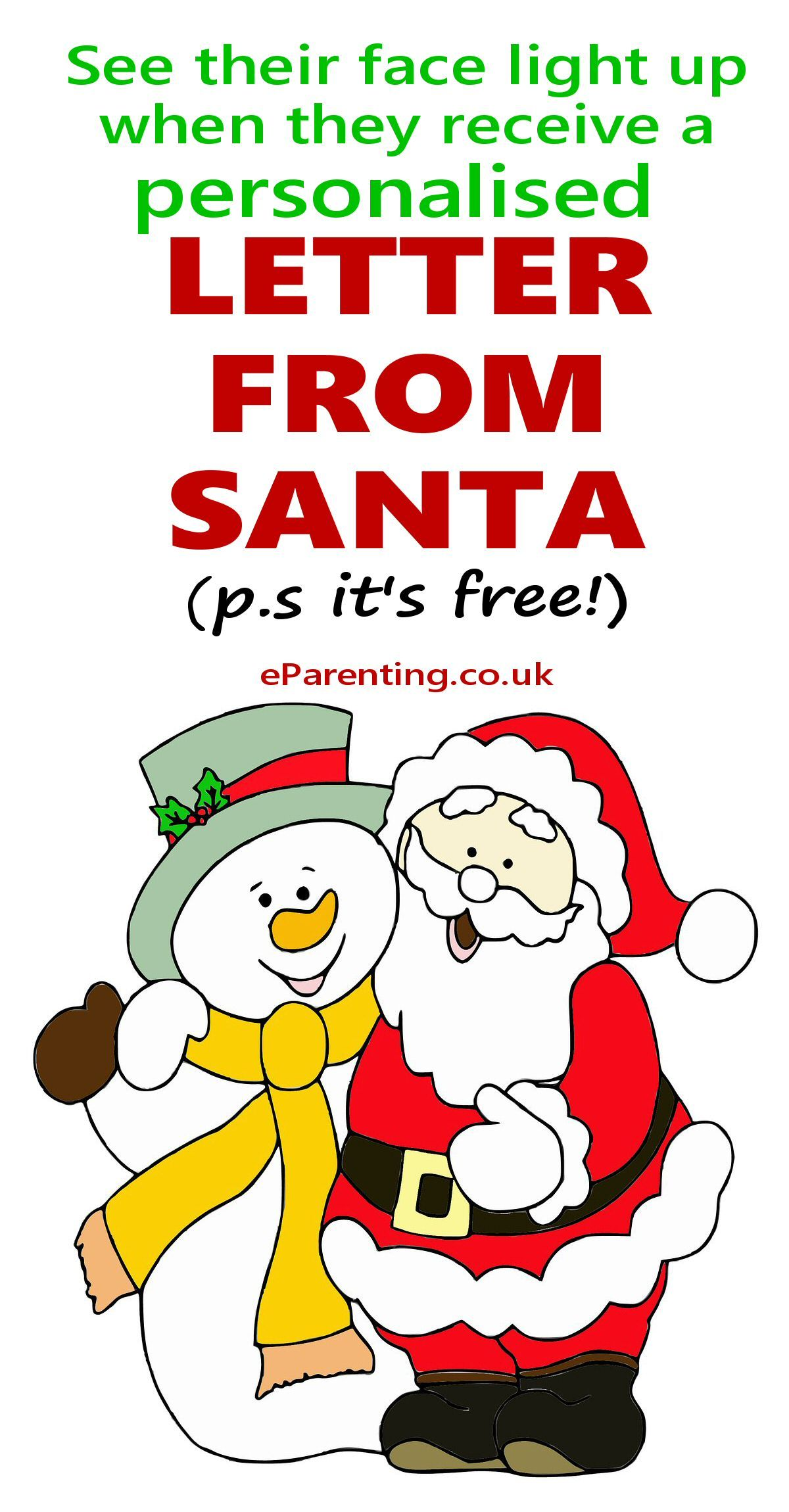 Free Printable Father Christmas Letters