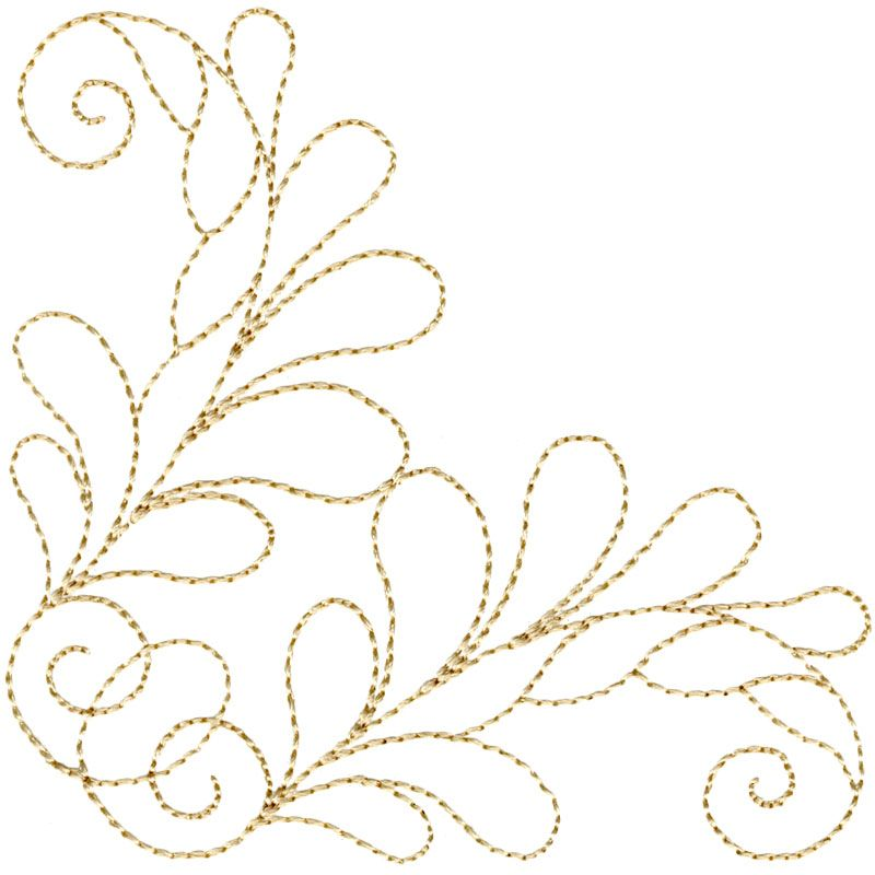 Feather Accent Corner #12380-08 | bordados | Pinterest | Bordado ...