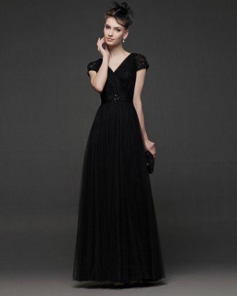 Vestidos de fiesta en negro y rosa
