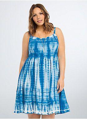 Tie Dye Challis Sundress | Fashion | Dresses, Tie dye, Plus ...