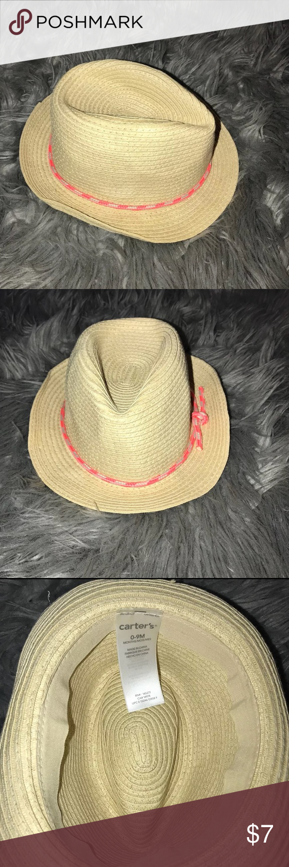 a0c3e7a8cf055 Carter s Baby Girl Straw Summer Hat Size 0-9 month Carter s Baby Girl Straw  Summer Hat Size 0-9 months.  ships same or next day Smoke   pet friendly ...