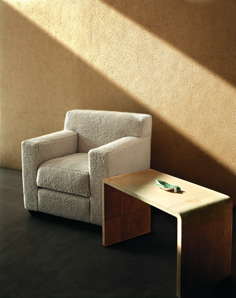 Bon Jean Michel Frank Confortable Club Chair In Au Natural Shearling Reissued  By Hermès Oakland Hills