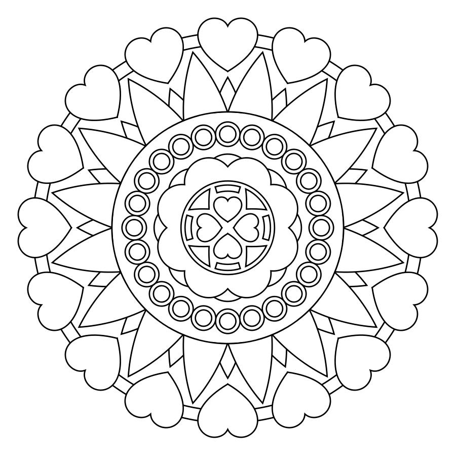 Printable Mandala | printables | Pinterest | Mandala, Adult coloring ...