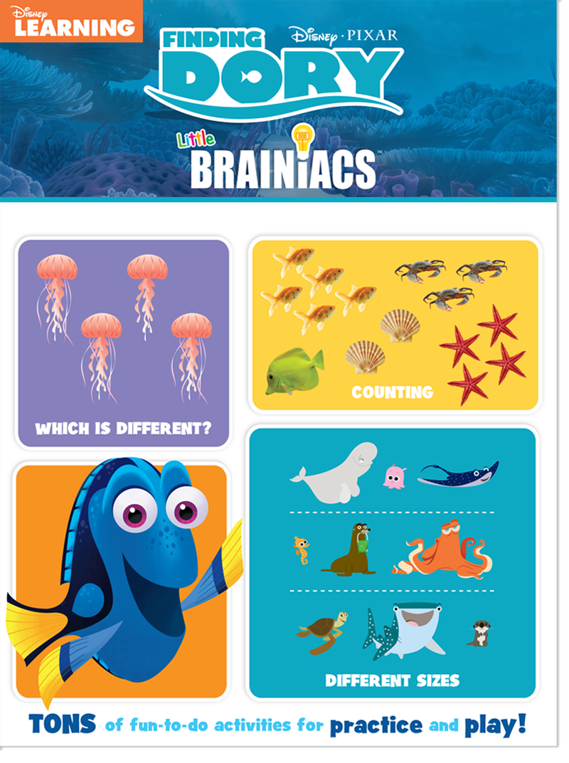 Disney Learning Finding Dory Little Brainiacs - Follow the maze with ...