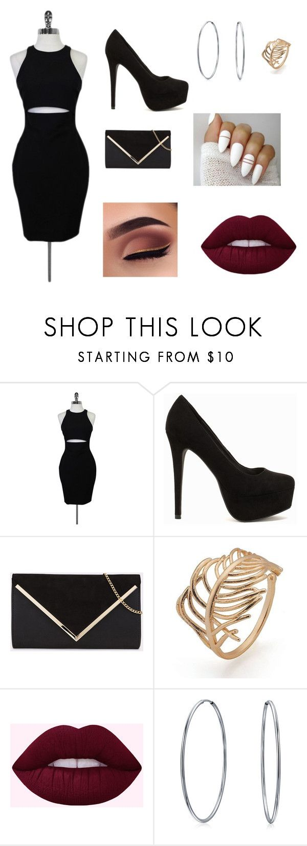 """""""Girls Night"""" by lilyannfrancis ❤ liked on Polyvore featuring Elizabeth and James, Nly Shoes and Bling Jewelry"""