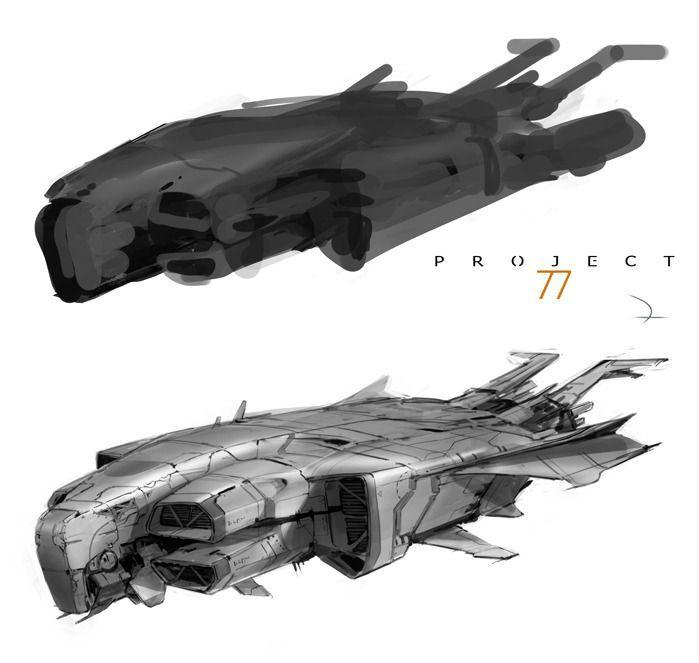 Resultado De Imagen De Sketch Future Spacecraft Spaceships