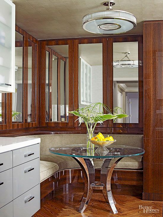 Banquettes for Small Spaces | Booth seating in kitchen ...
