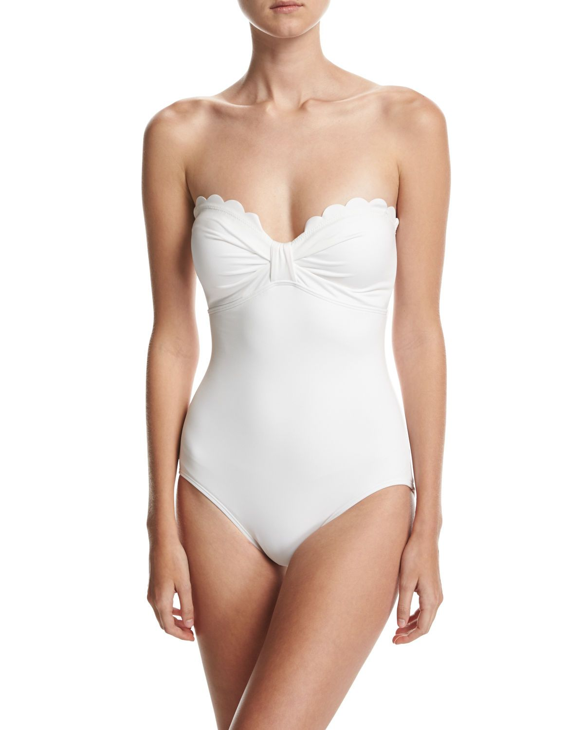 57cd745123275 kate spade new york scalloped bandeau one-piece swimsuit