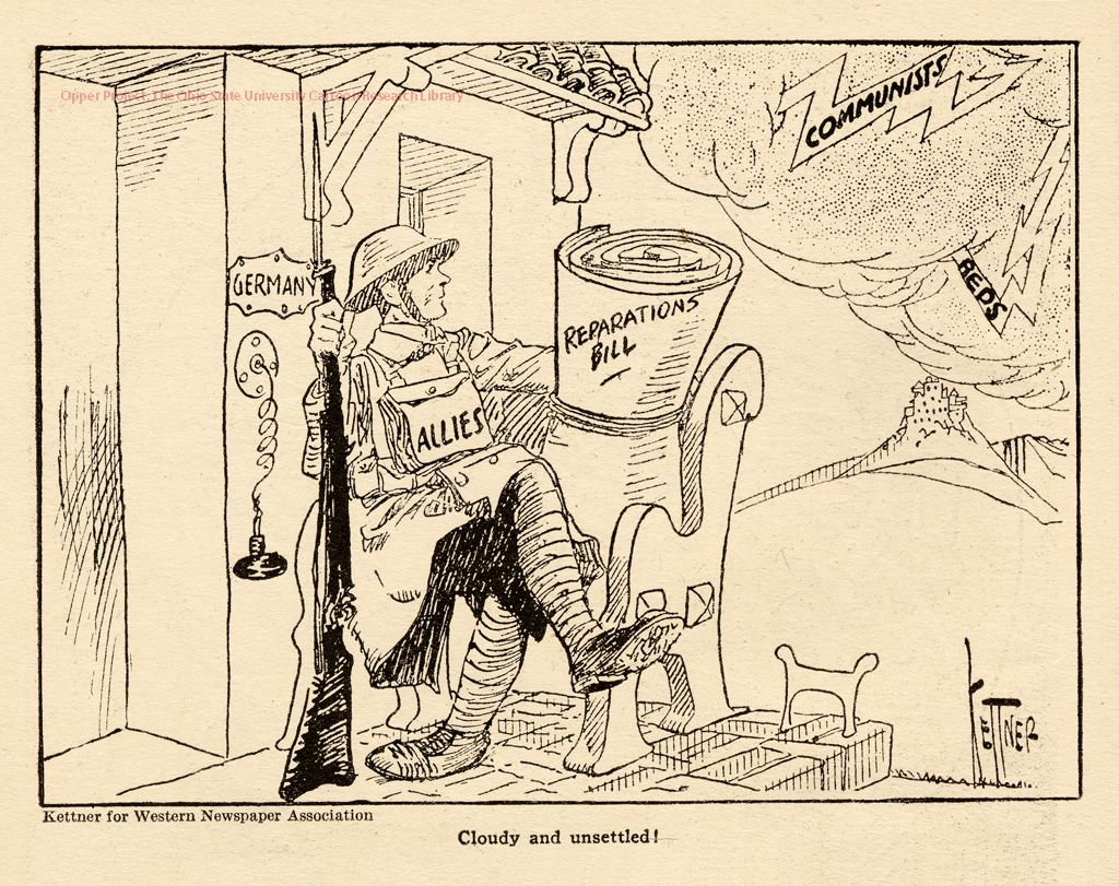 Political Cartoon Of The Treaty Of Versailles Showing