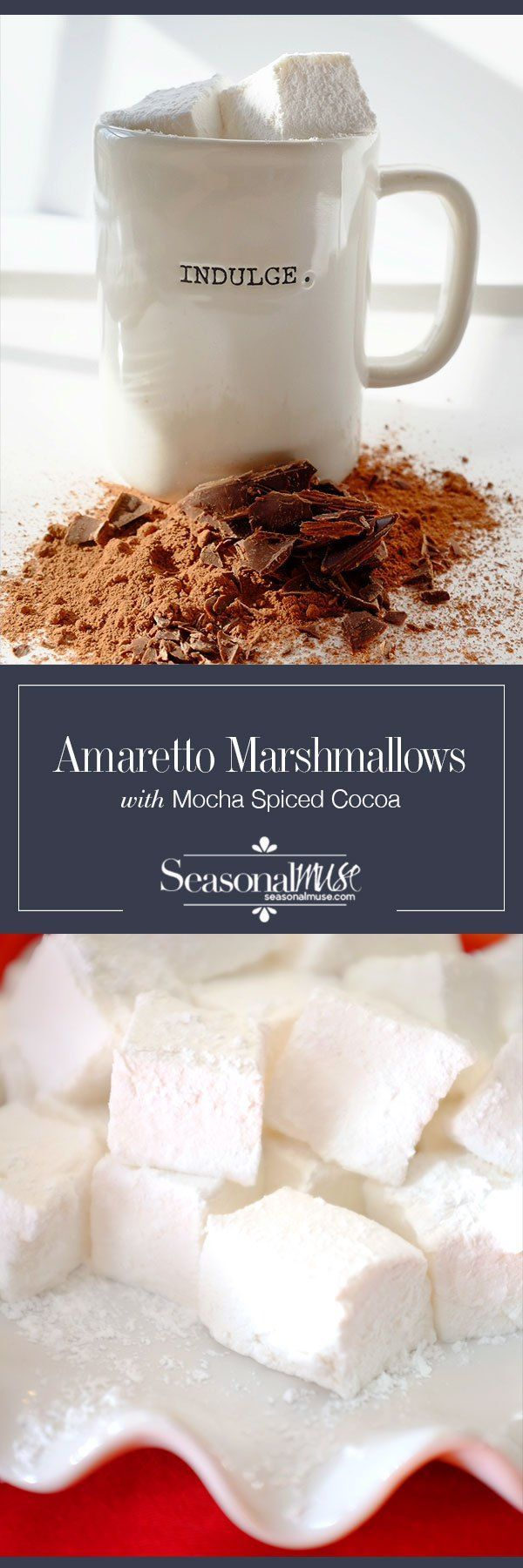 Homemade Marshmallows & Hot Spiced Mocha #flavoredmarshmallows