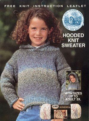 Free Knitting Pattern Khs Hoodsweater Hooded Knitted Sweater Lion