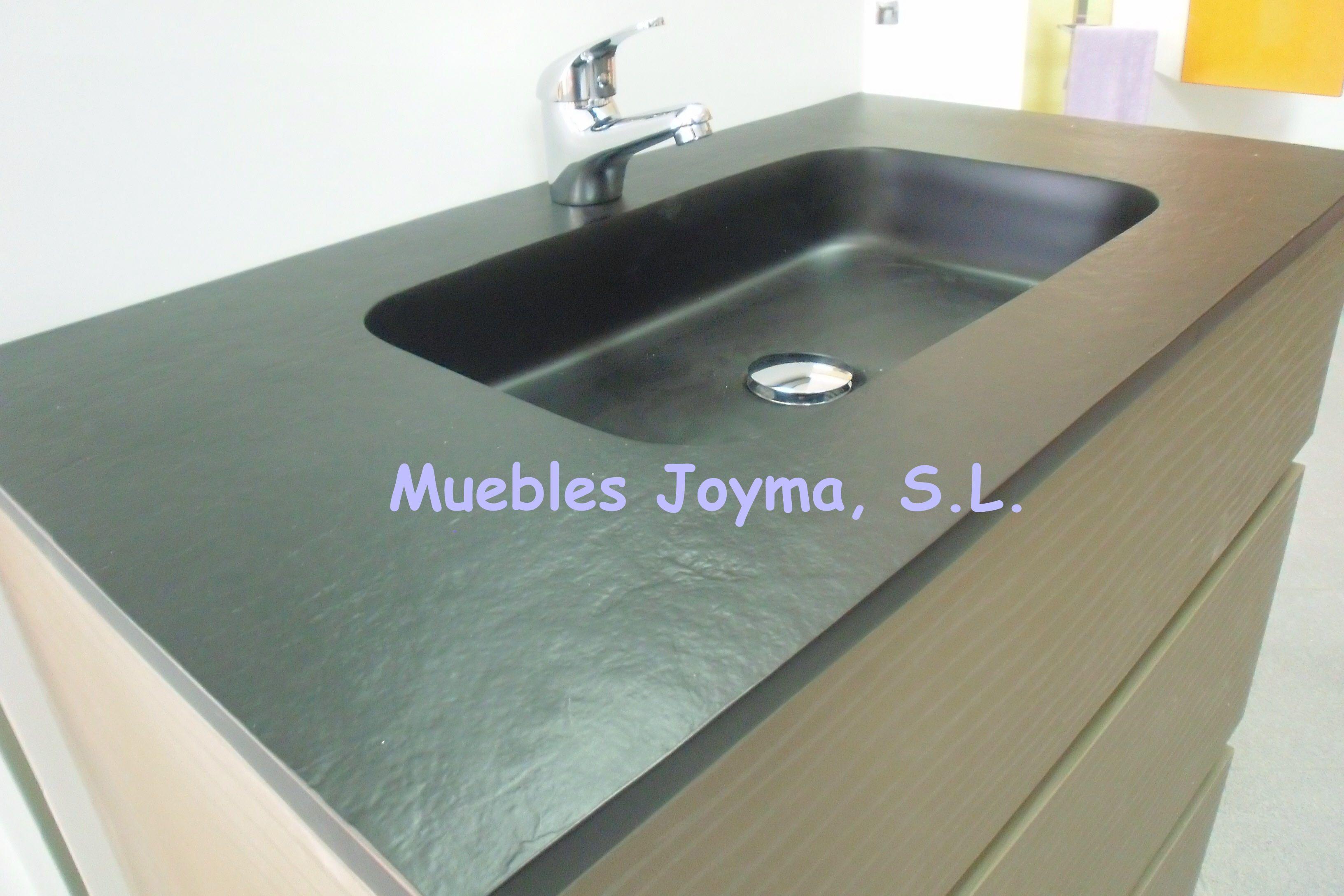 Waschtischplatte schiefer  Green #Jade #slate as #countertop - grüner #Jade #Schiefer als ...