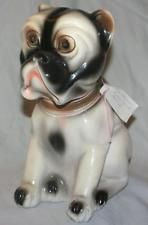 Vintage Antique Large Carnival Plaster Prize English Pit Bulldog Statue Bank Old American Pitbull Terrier Pitbull Terrier Bull Terrier