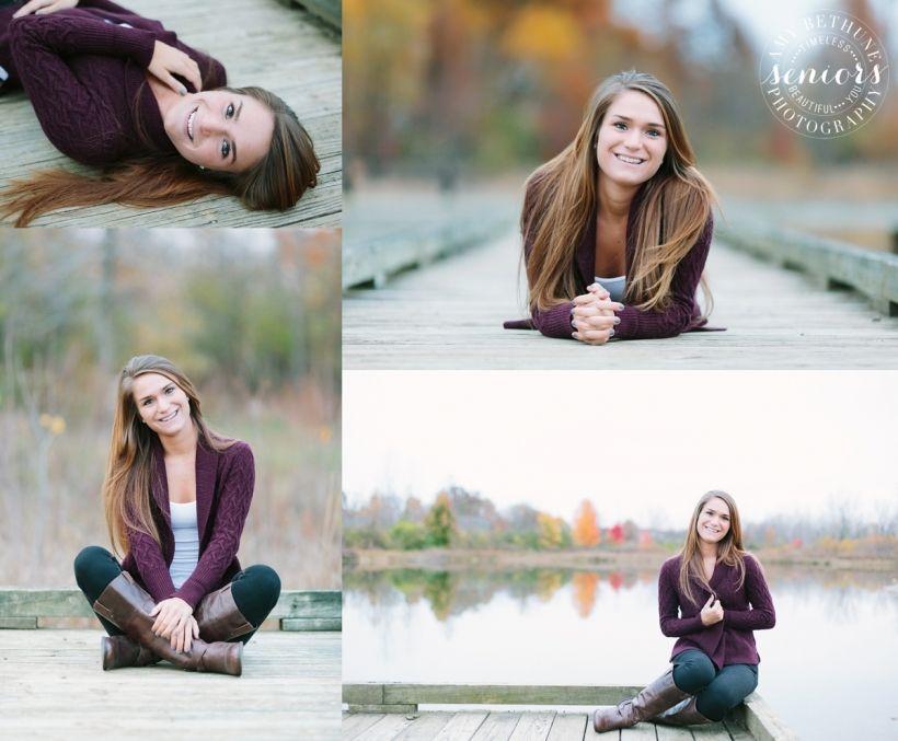 senior girl poses | on the dock Amy Bethune Photography