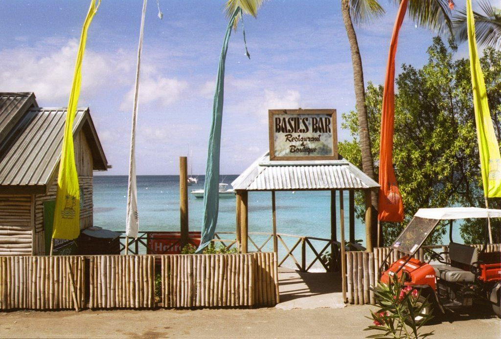 basils bar mustique ~ just returned after 30 years and it hasn't changed a bit