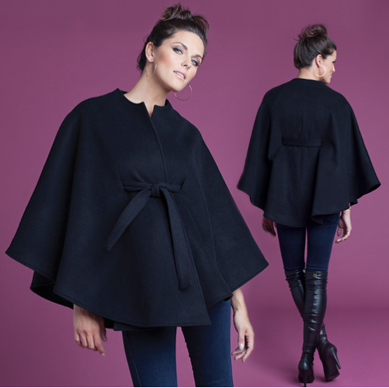 Belted Cape From Ingrid And Isabel Is Great For Layering