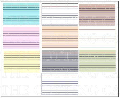 Index Card Printable Set  Rolodex Cuttings And Pdf