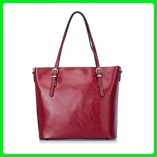 XY Fancy Women Stylish Simple Genuine Leather Tote Shoulder Bag Handbag Big  Large Capacity Red - Shoulder bags ( Amazon Partner-Link) b7a30a8ea84ef
