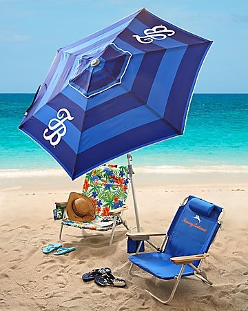Tommy Bahama Striped Deluxe 7 Beach Umbrella For The Home