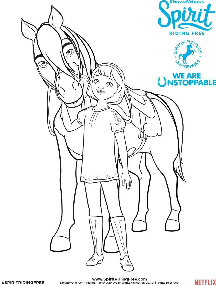 Abigail Boomerang Coloring Page Spirit Riding Free Coloring Pages Barbie Coloring Free Coloring Pages