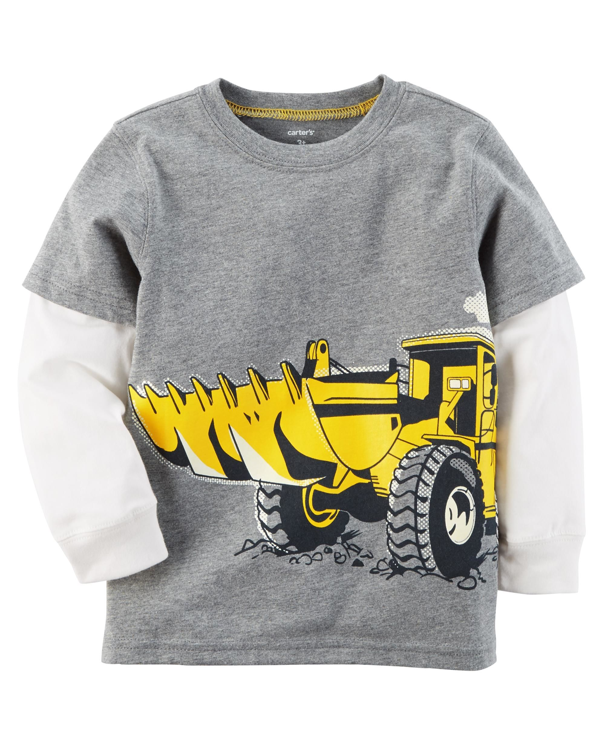 Layered Look Construction Tee With Images Baby Boy