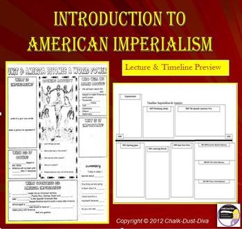 Minute Notes Template American Imperialism Introduction Lecture & Timeline Activity Print .