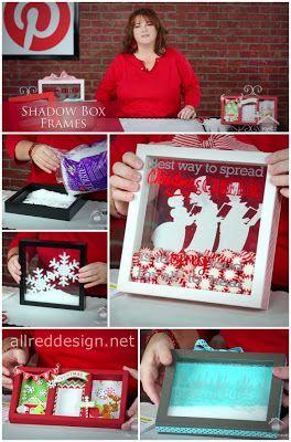 Allred Design Blog Ibp Shadow Box Frames Christmas Shadow Boxes Christmas Frames Diy Shadow Box